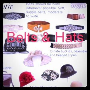 Other - Hats & belts